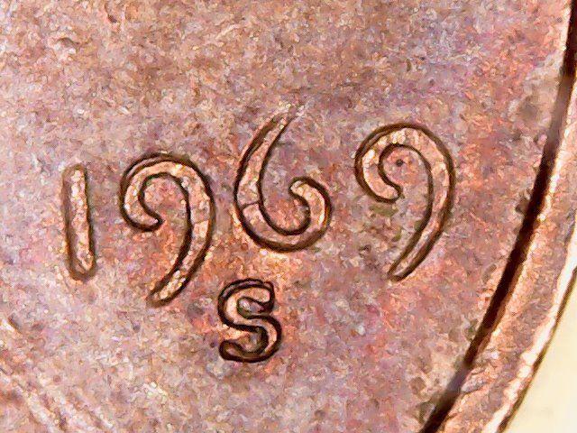 error #errorcoins 1969 S Error DDO/DDR Lincoln Memorial penny With