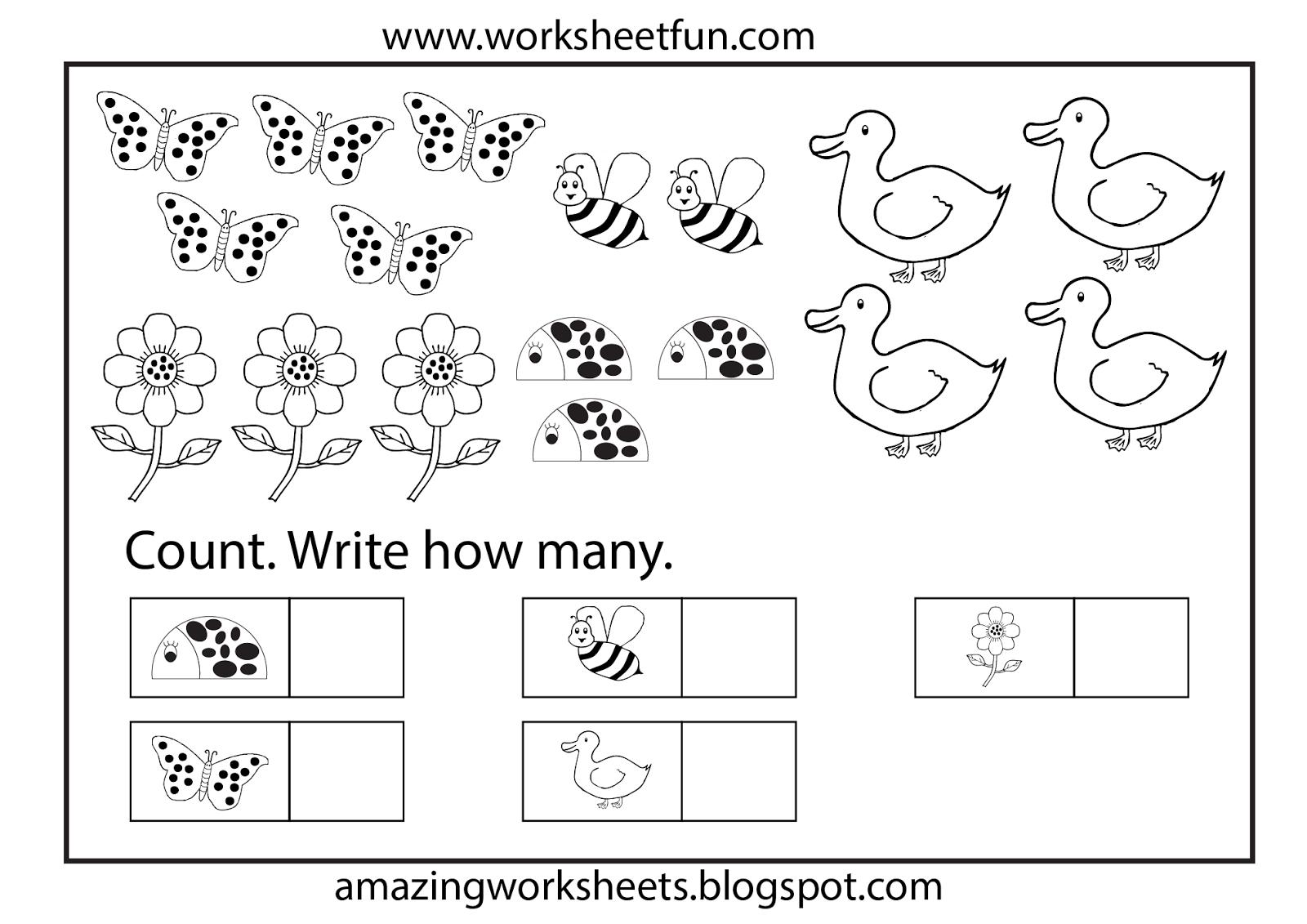 Free Printable Math Worksheet For Kindergarten Worksheets Counting