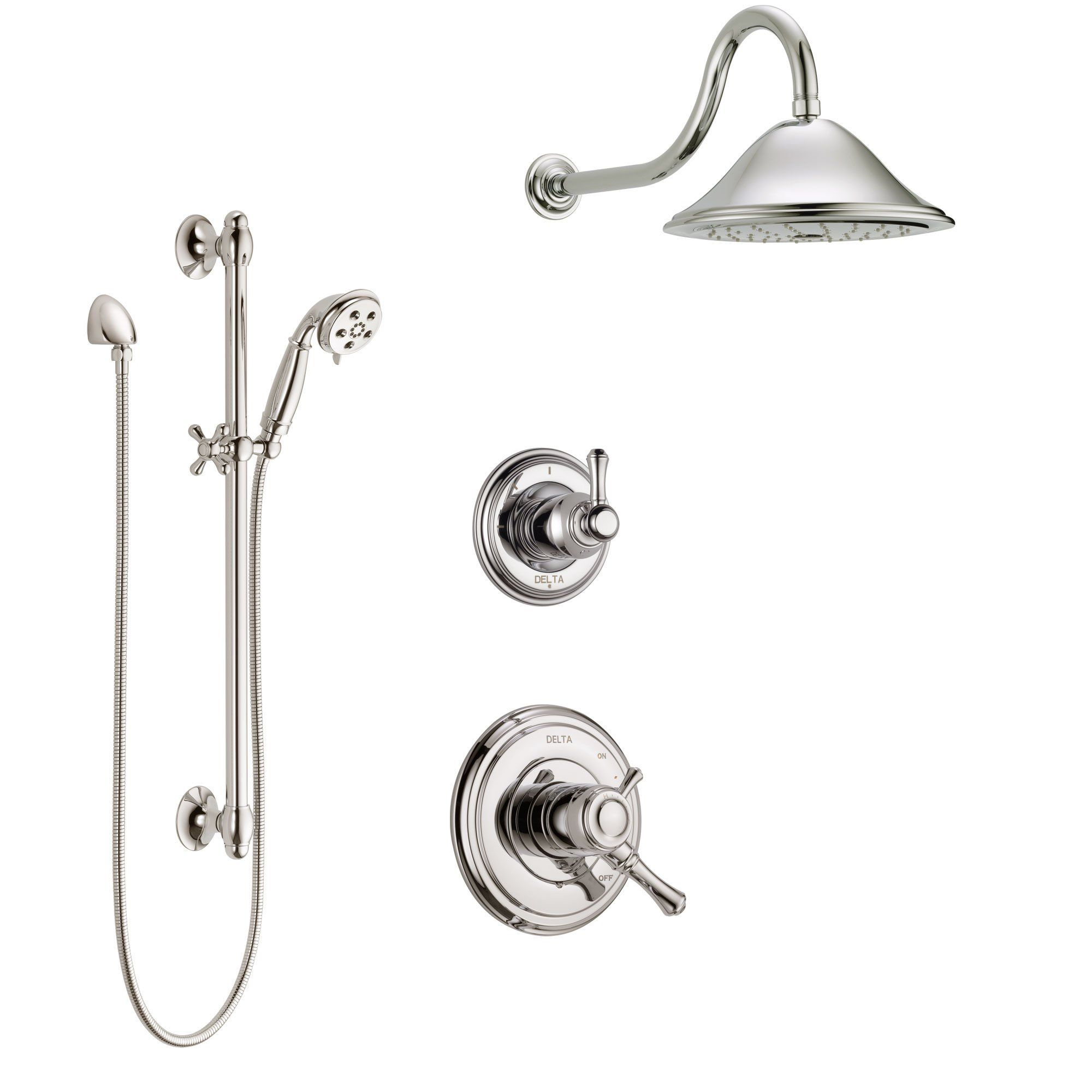 Delta Cassidy Polished Nickel Finish Shower System With Dual
