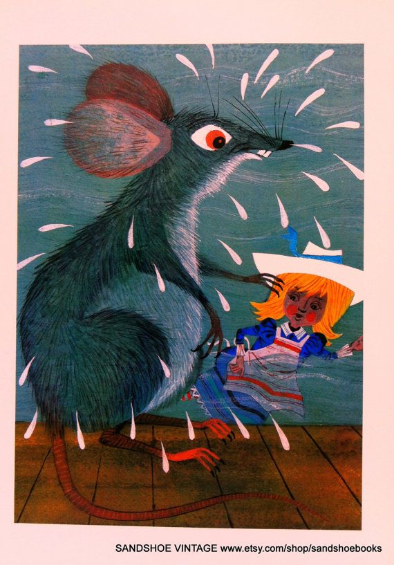 Alice in Wonderland illustration by Moritz Kennel 1971