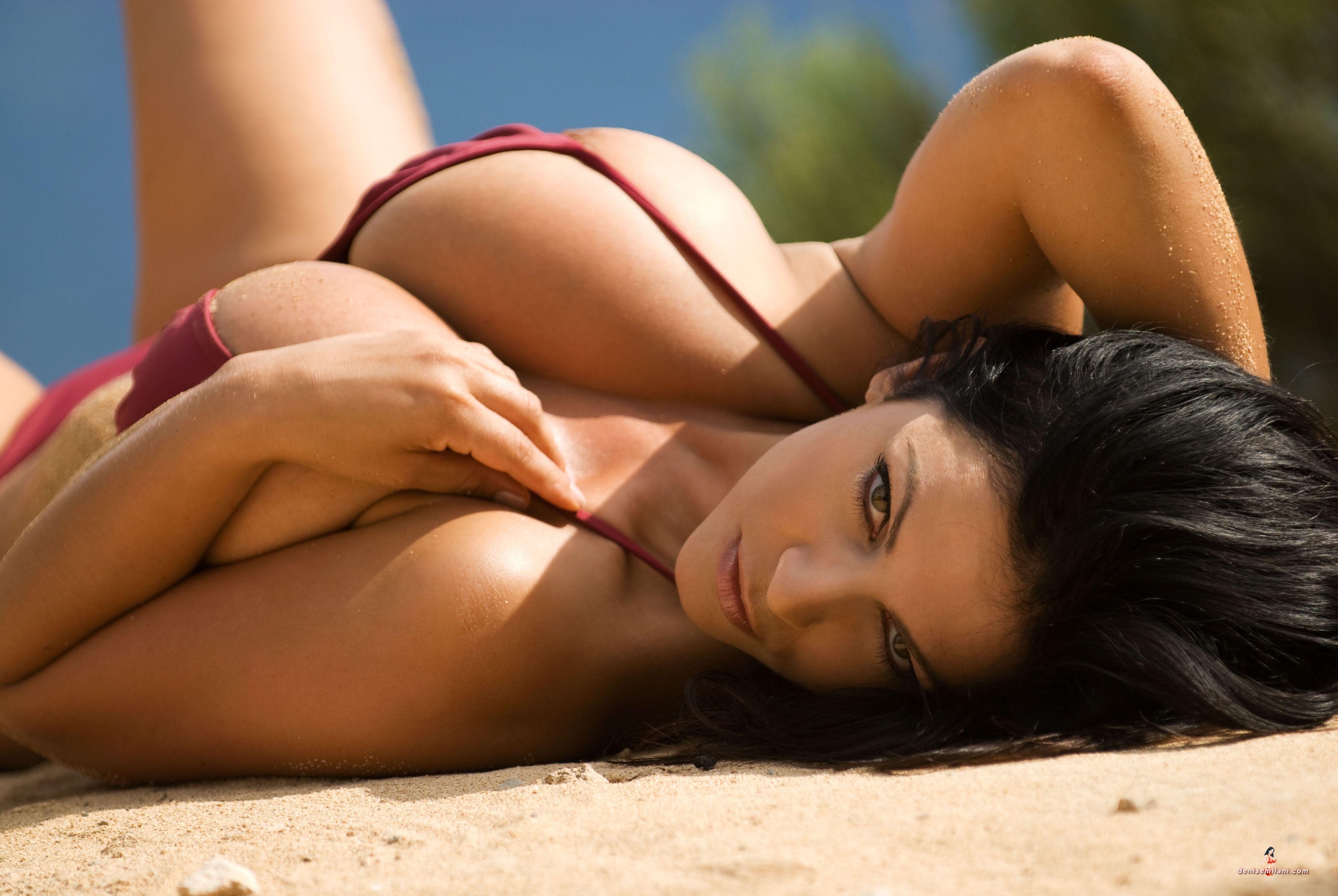 Denise Milani Burgundy Bikini