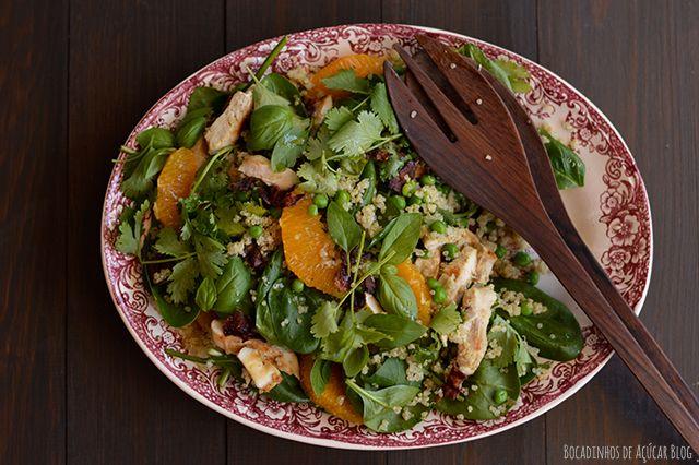 Bocadinhos de Açúcar: Salada fresca de Quinoa e Ervilhas