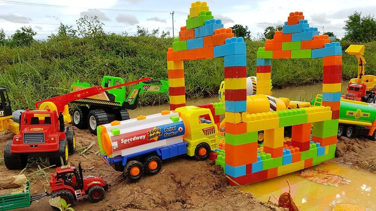 Little people car toys  Toy Cars For Kids  Excavator Dump Truck Road Roller Construction