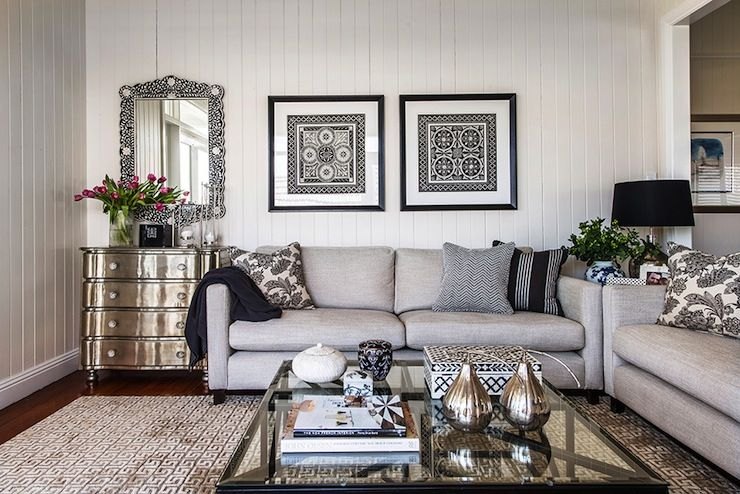 Highgate House Living Rooms Gray Sofa Contemporary Gray Sofa