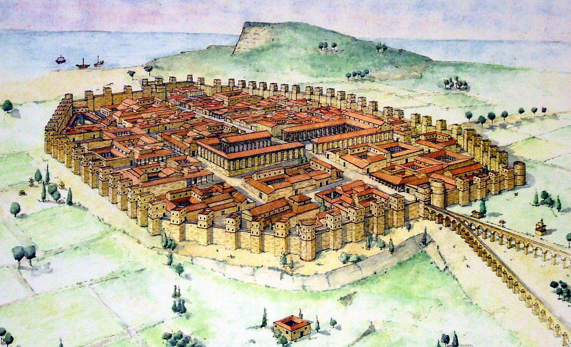 The Roman city of Barcino (Barcelona) in Spain as envisioned by Raúl  Camañas and Clara Penín | Roman city, City maps, City