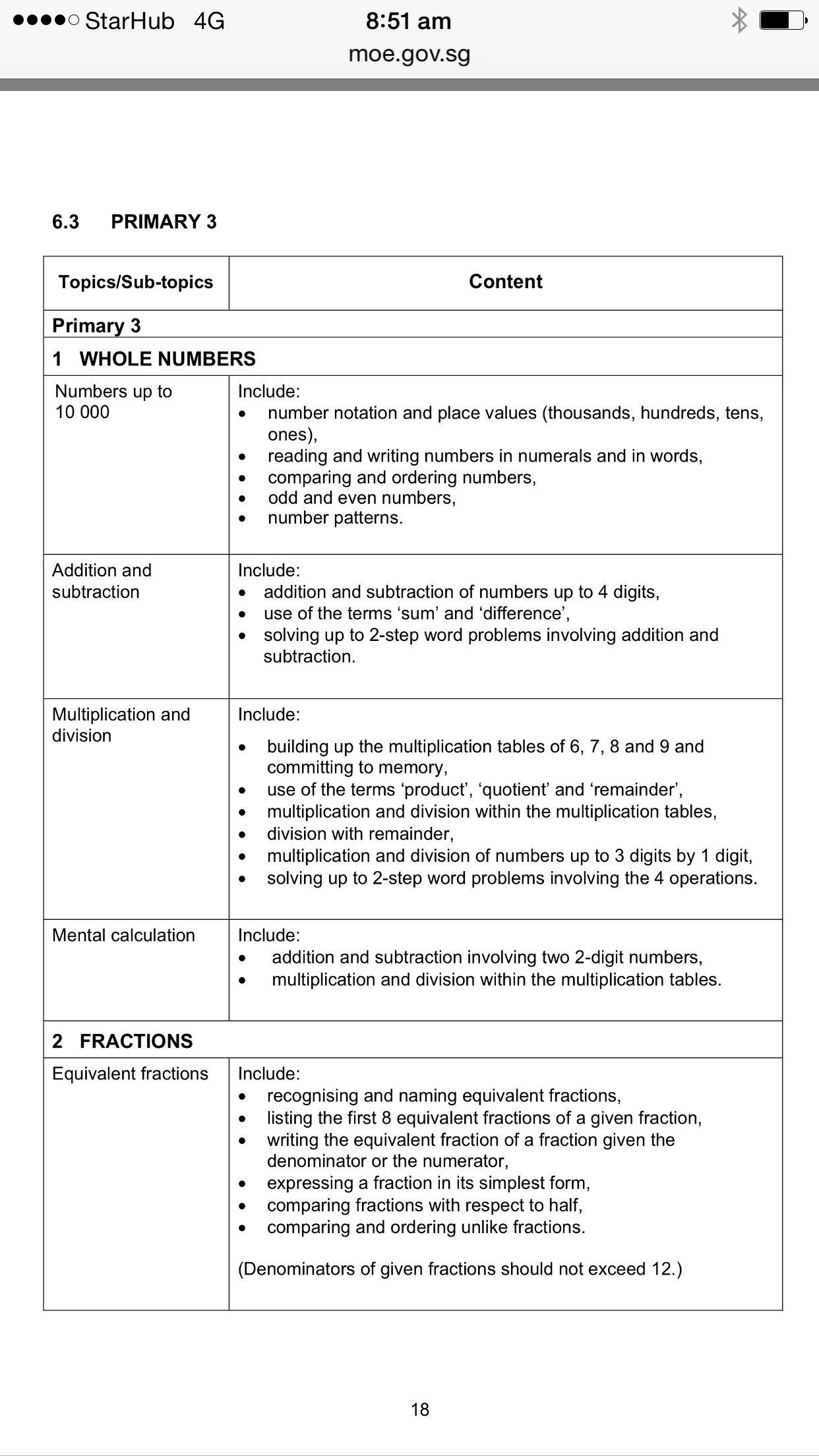 Primary 3 math page 1 | Primary 3 Math Syllabus | Pinterest | Maths ...