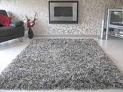 Ash Grey Thick Poly Silk Floor Rug Shaggy 160x230cm Money Back Guaranty Floor Rugs Rugs Flooring
