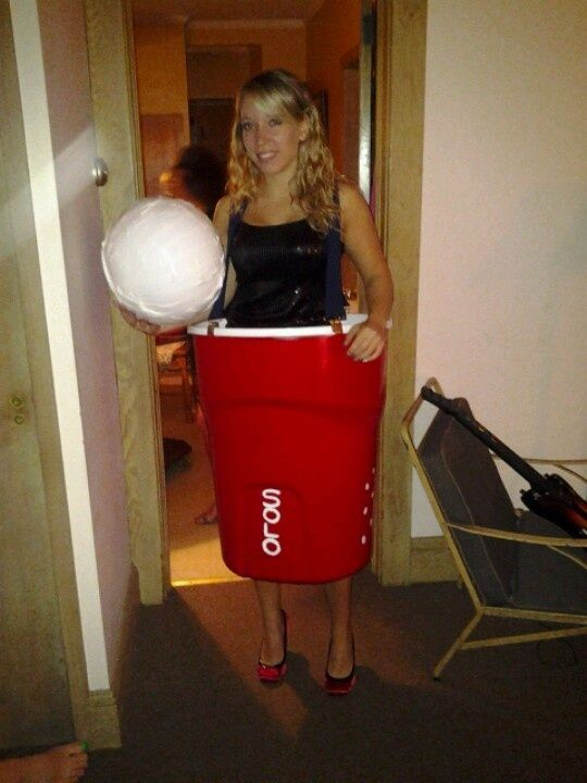 red solo cup costume homemade red solo cup halloween costume garbage can spray paint from home