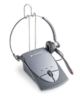 Plantronics S12 Telephone Headset System. Hands free and great for the workplace or office. Adds professional aspect and is ergonomic.
