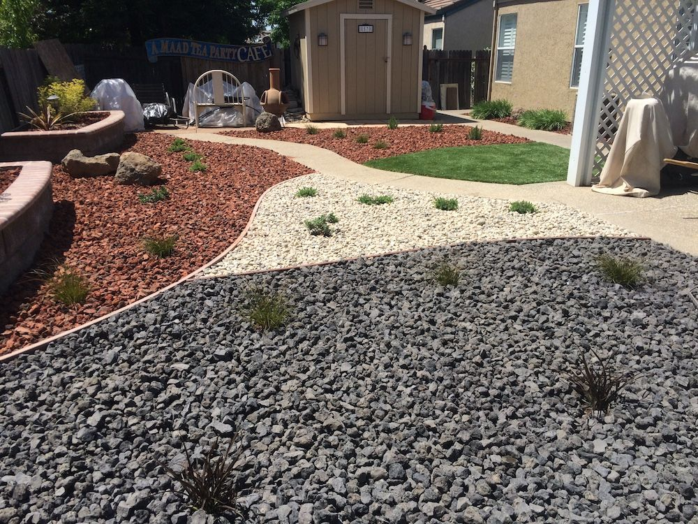 Flat Charcoal Stone Outdoor Landscape Pebble Landscaping With