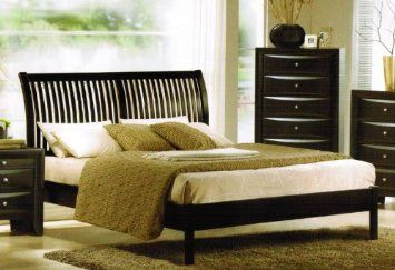 Amazon.com: Eastern King Size Bed - Contemporary Black Finish: Home & Kitchen