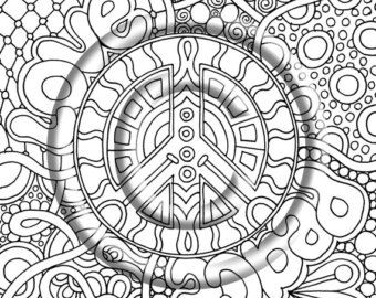 adult psychedelic coloring book Google Search Colouring
