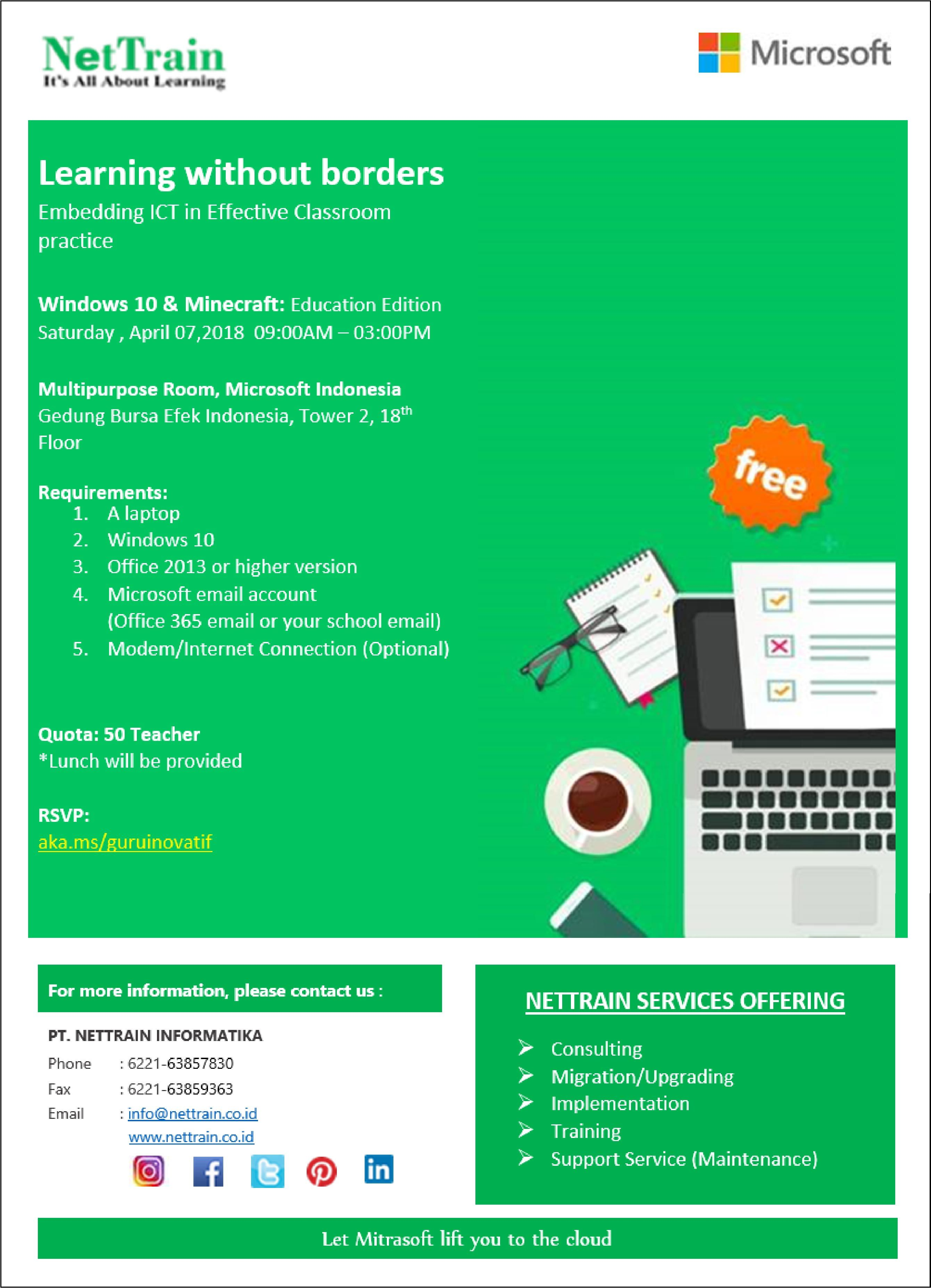 Learning Without Borders Embedding Ict In Effective Classroom Software Faktur Pajak Plustek Practice