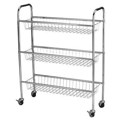 Household Essentials 3 Basket Storage Cart