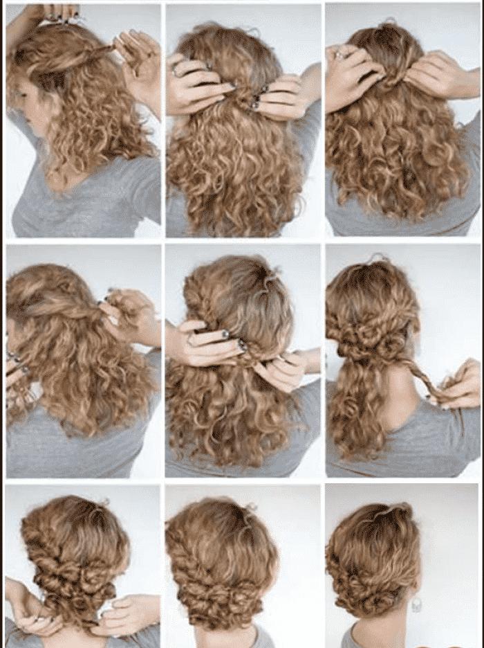 Hoy Os Mostrare Como Hacer Peinados Faciles Paso A Paso Desde Casa Mas Concretamente D Peinados Poco Cabello Peinados Para Cabello Rizado Peinados Pelo Rizado