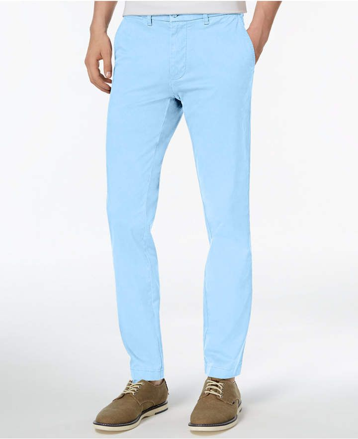 1e1450ce4 Tommy Hilfiger Men's Th Flex Stretch Slim-Fit Chino Pants, Created for  Macy's