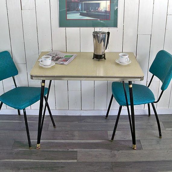 mid century modern half kitchen table, dinette table