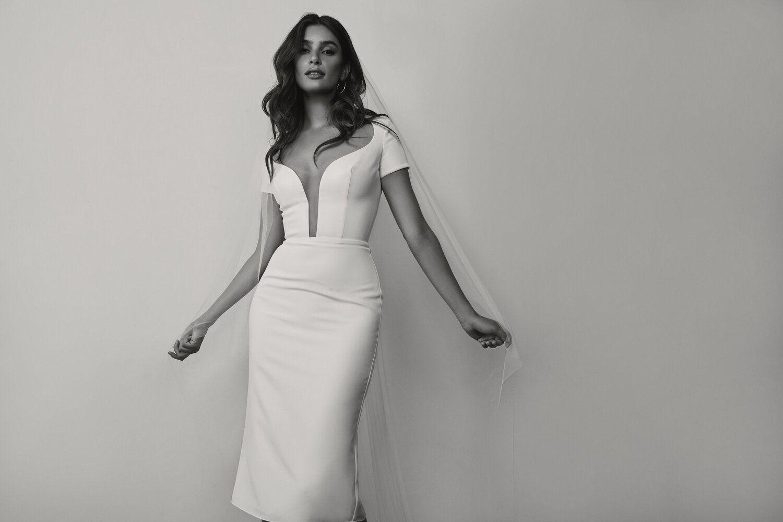 Stella Midi Before Wedding Cap Sleeves Rehearsal Dinner Dresses Sarah Seven [ 1000 x 1500 Pixel ]