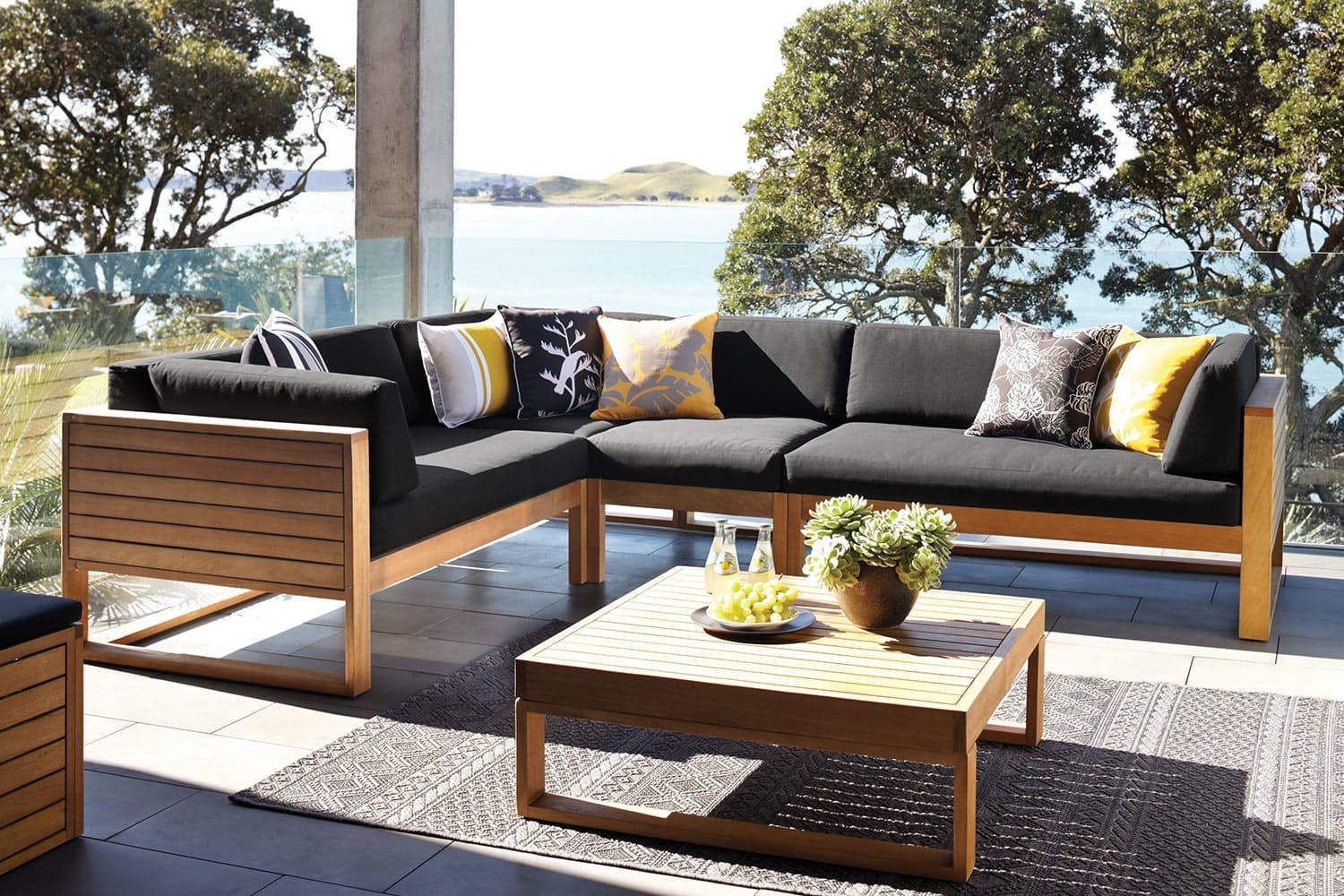 Ventura corner outdoor lounge suite harvey norman new zealand