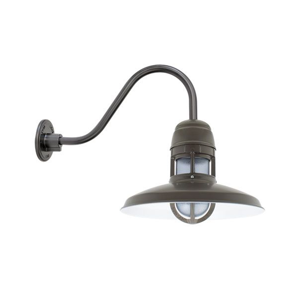Brisbane Gooseneck Light, Outdoor Uplight | Barn Light Electric ...