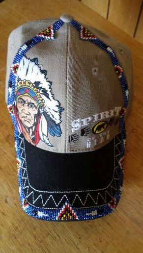 63f240f9ca2 Beaded baseball cap Indian Beadwork