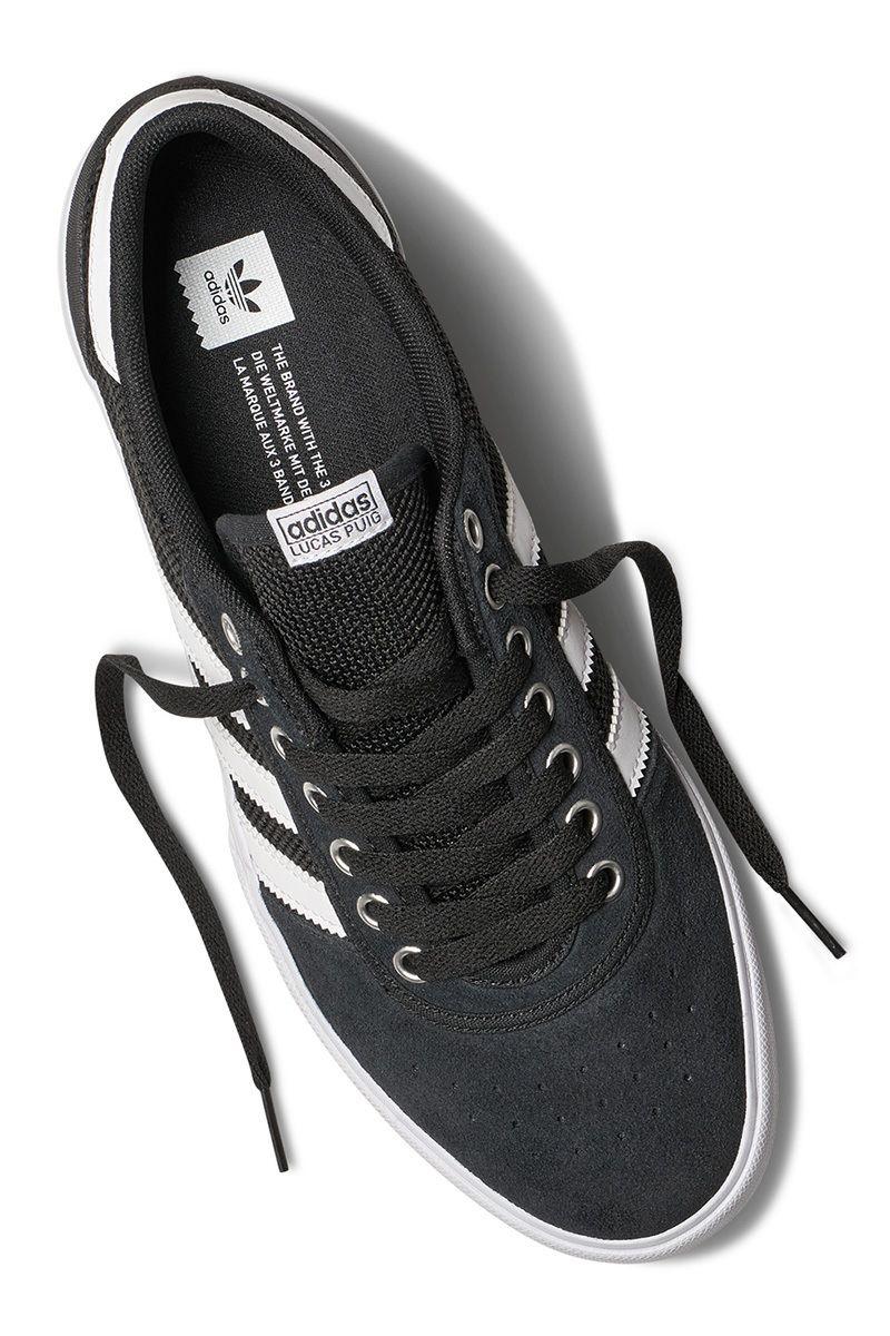 Mens Black Skate Shoes Adidas Lucas Premiere ADV Black