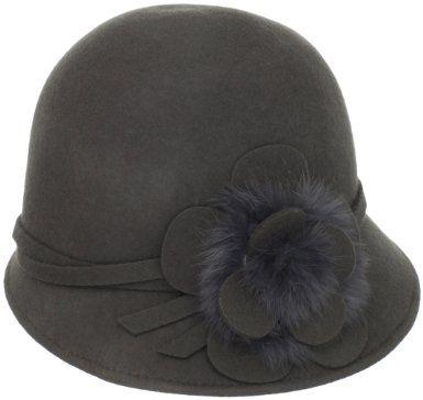 7854a63c64f Amazon.com  Collection XIIX Women s Rabbit Fur Flower Cloche Hat ...