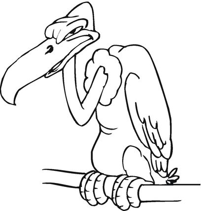 Buzzard Coloring Page With Images
