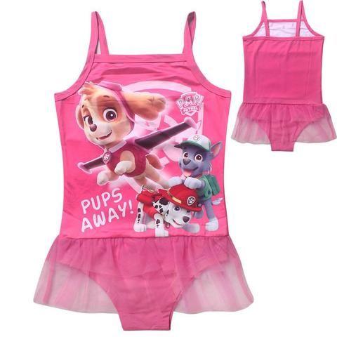 8896708db6cf1 Paw Patrol One Piece Skirted Swim Suit