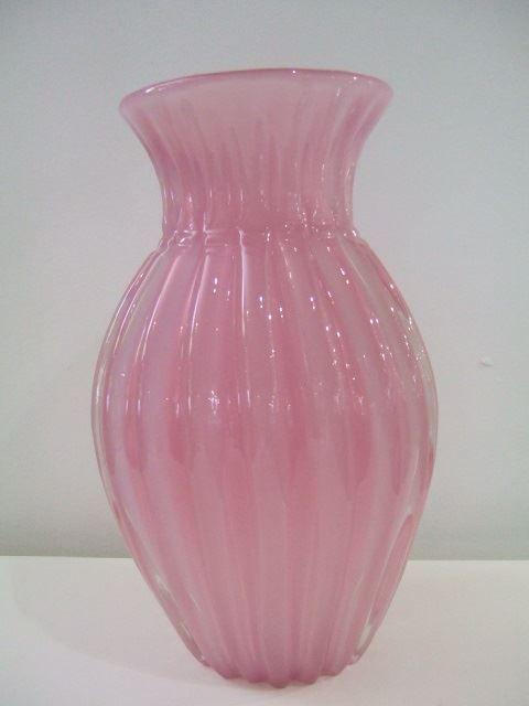 Murano Archimede Seguso, Pink Opal Alabastro Vase c1955 - Artmosphere Antiques Battlesbridge Essex