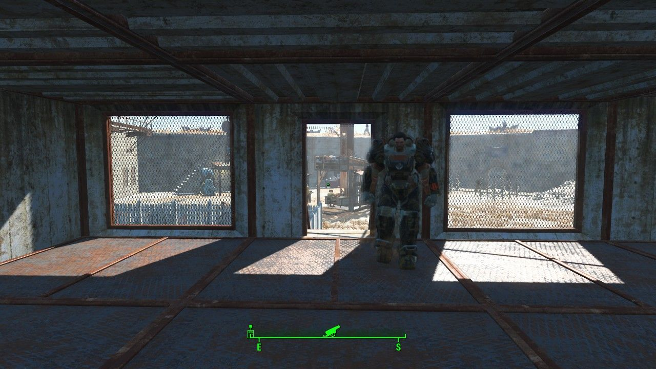 Fallout 4 Settlement Ideas The Castle interior of rooms built to fill in the broken walls