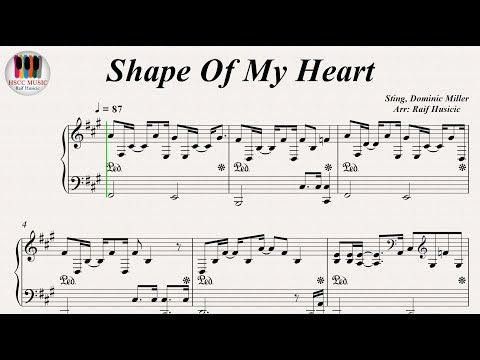 Shape Of My Heart - Sting, Piano - YouTube | Piano Music in 2019