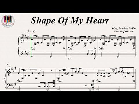 Shape Of My Heart Sting Piano Youtube Piano Youtube Piano Piano Music