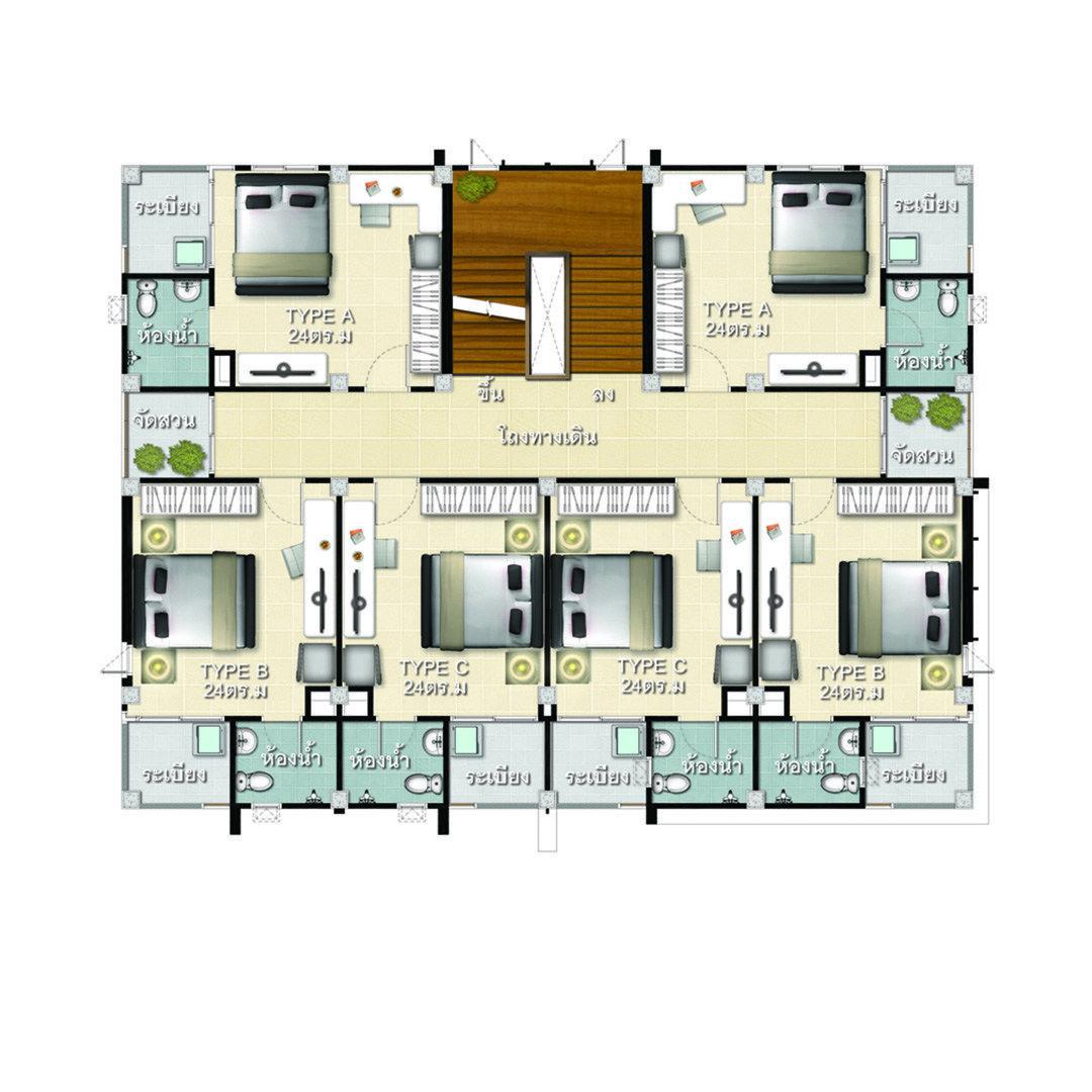 Apartment Plans 22x21 With 22 Bedrooms House Plans 3d Apartment Plans House Plans Apartment Design