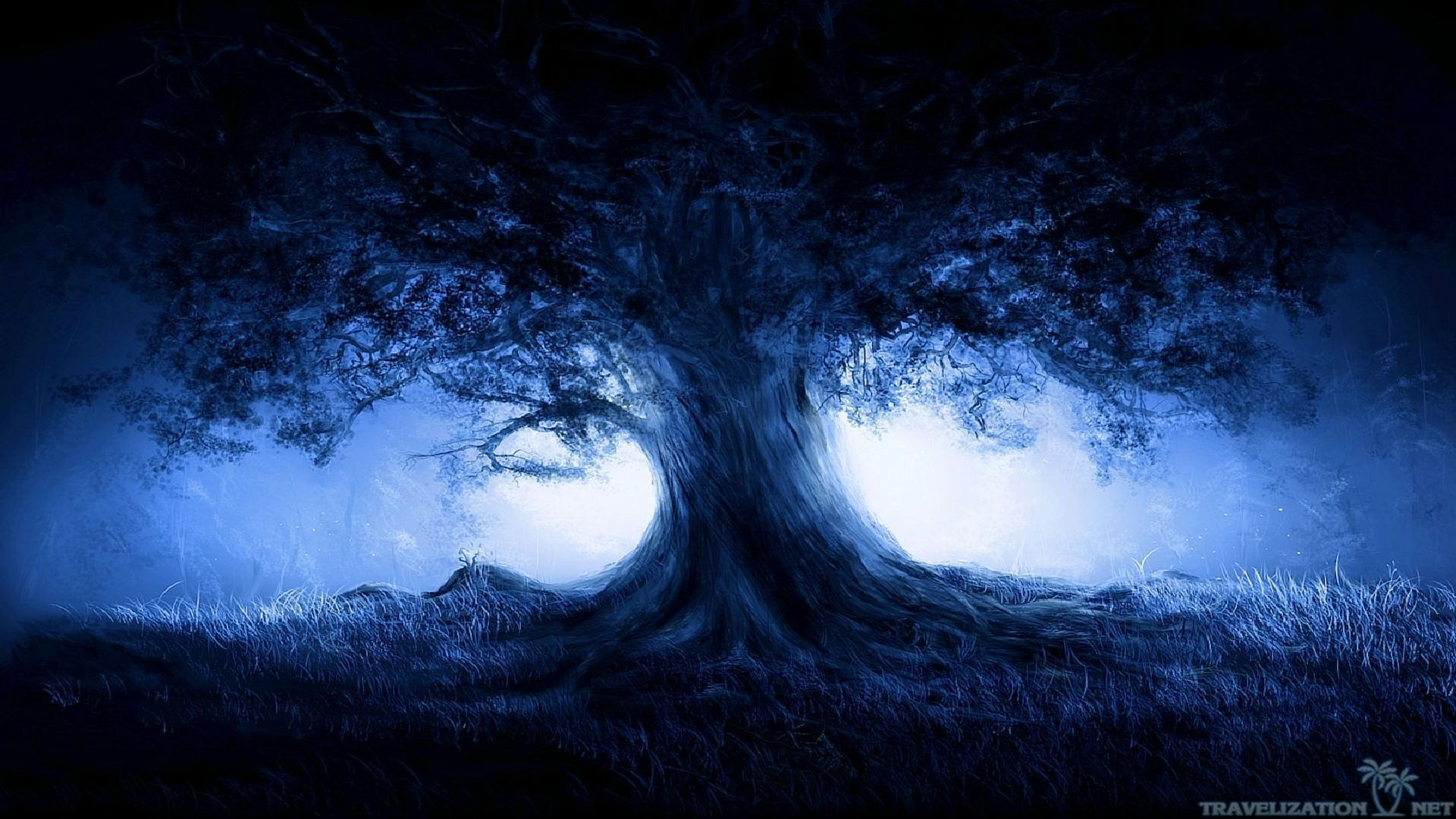 Dark Nature Wallpapers 1080p For Free Wallpaper Fantasy Landscape Landscape Trees Dark Tree