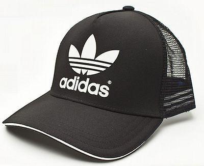 e55f9ea3223 ADIDAS-ADICOLOR-TRUCKER-CAP-Black-White-snapback-trefoil-logo-hip-hop-hat -NEW