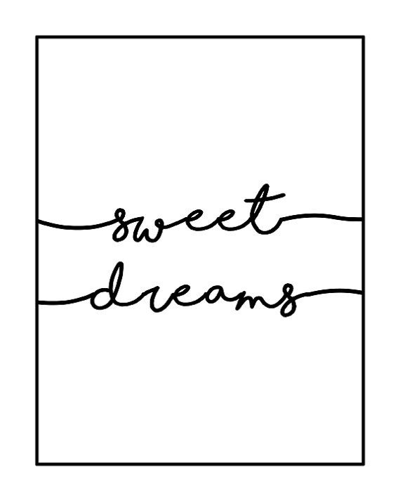 Sweet Dreams Print, Nursery Printable, Nursery wall decor ...
