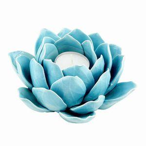 Blue Lotus Petal Tea Light