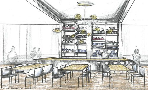 Hotel Bar Concept Sketch