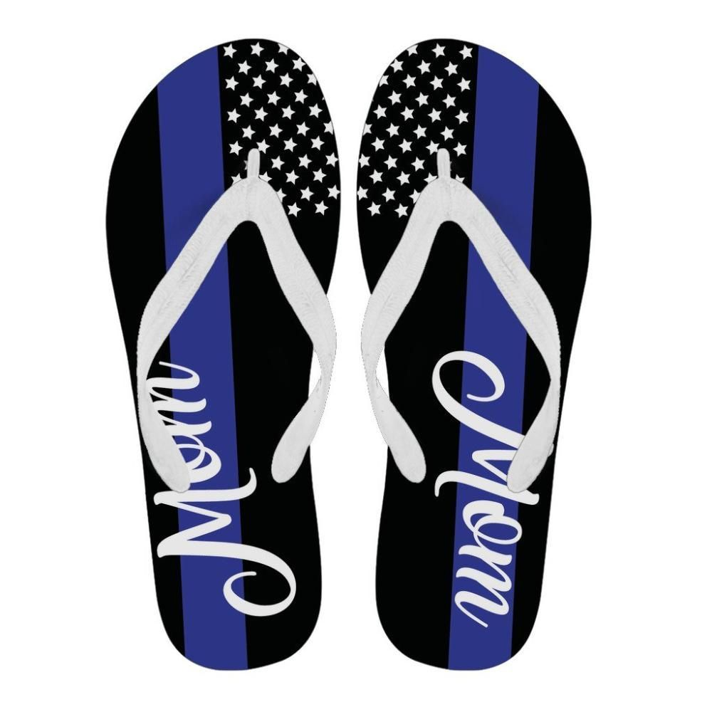 2ea503e744f Thin blue line american flag mom or wife flip flops thin blue line jpg  1000x1000 Police