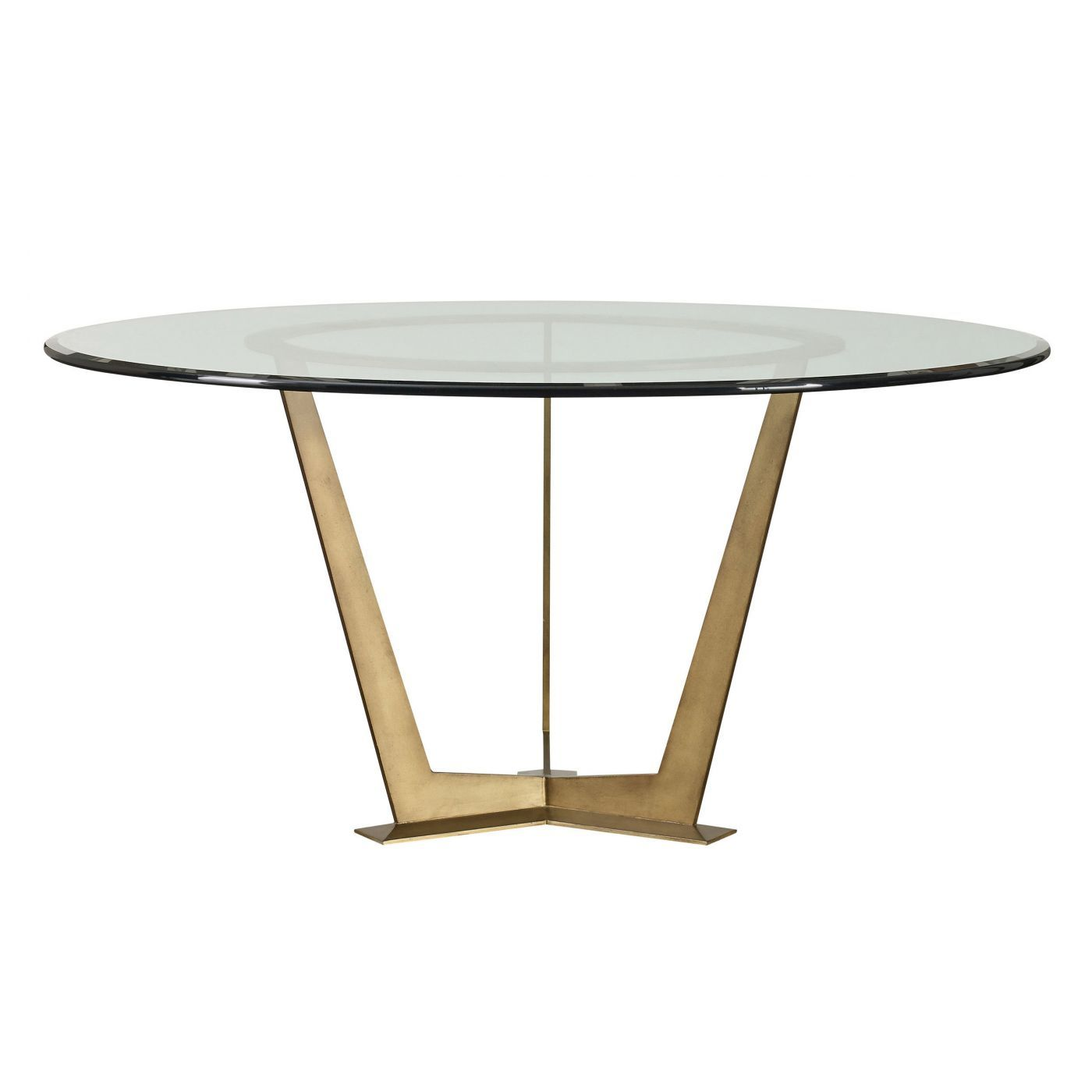 Steel Base Round Table Wd13 54rd Gl In Bronze With A 54