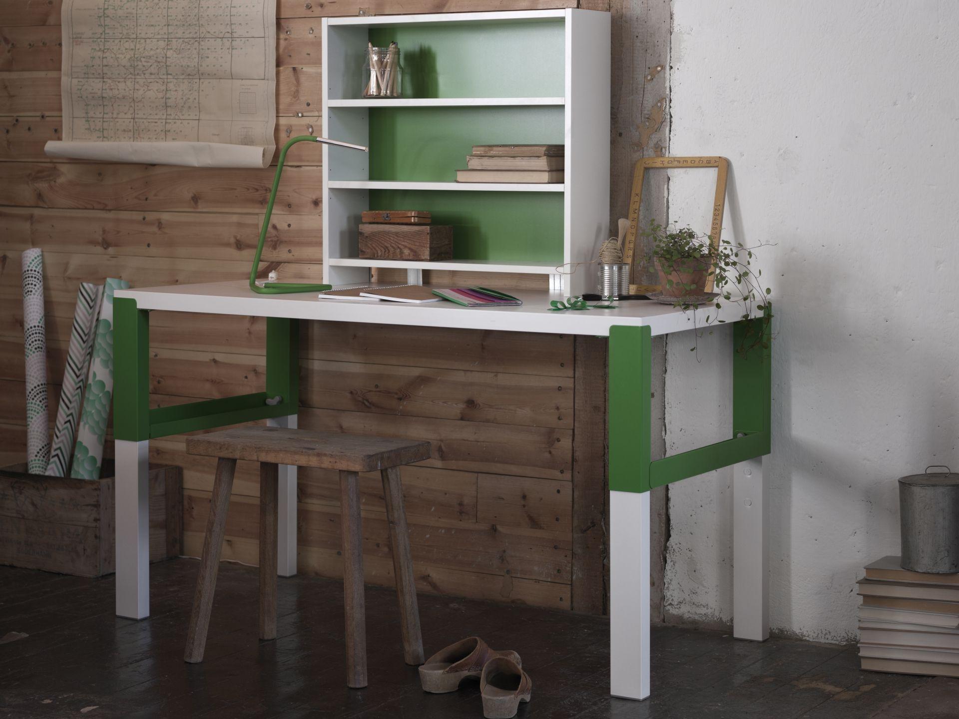 PÅhl bureau met open kastje wit groen pinterest bureaus ikea
