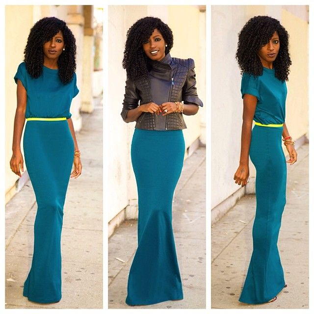 Happy Friday! Teal T-Shirt Maxi Dress. Deets on stylepantry.com