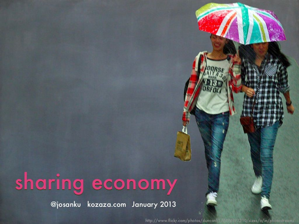 Sharing economy by @SanKu Jo
