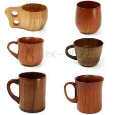 Wooden Cup Primitive Handmade Natur Mugs Handmade Wooden