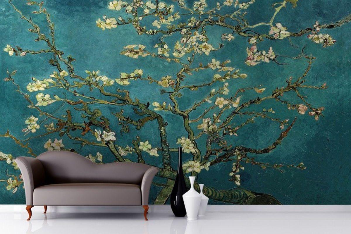 3d Wallpaper Rolls Almond Branches By Van Gogh Livingroom Bed