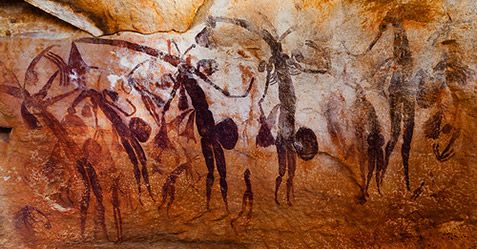 who found the bradshaw rock paintings