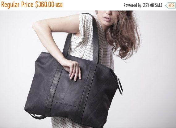 Matt Black Leather Backpack   Women Leather Tote   Oversize Shoulder Bag    Weekend Handbag   Office Bag   Laptop Bag   Messenger Bag - Noni fbf51e3b13a0d