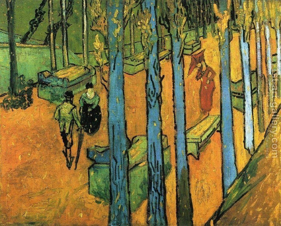 Les Alychamps Autumn I Van Gogh Art Van Gogh Paintings