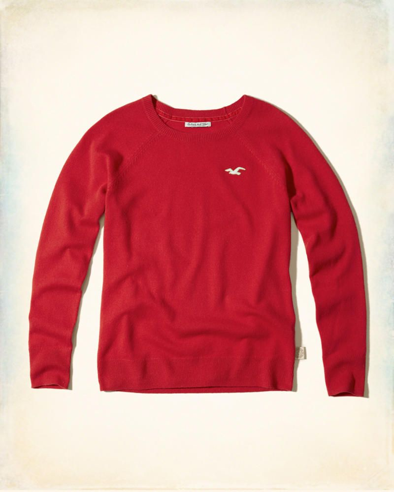 Hollister Wool-Cashmere Crew Sweater | Stylish outfits | Pinterest ...